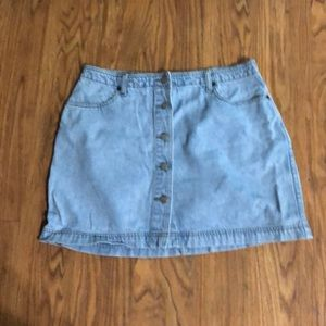 Button Front Denim Mini Skirt from Old Navy